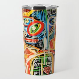 """Child"" street art brut expressionist digital painting Travel Mug"