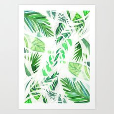 Leaf tropical pattern Art Print