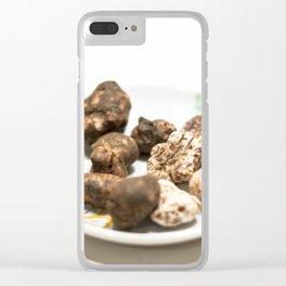 Tartufo bianco e nero | White and black mushrooms truffle. Clear iPhone Case