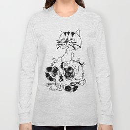 Long Tailed Creepy Cat and Sneaky Rat Long Sleeve T-shirt