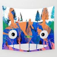 miyazaki Wall Tapestries featuring Poster Toto ro (Miyazaki) by Mariano F. Hernandez