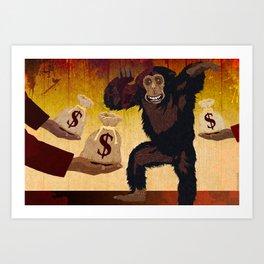 Money Monkey Art Print