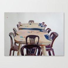 Chairs, Greece Canvas Print