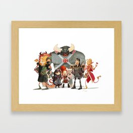 Dungeons and Dragons Framed Art Print