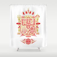 spain Shower Curtains featuring Spain Crest by George Williams