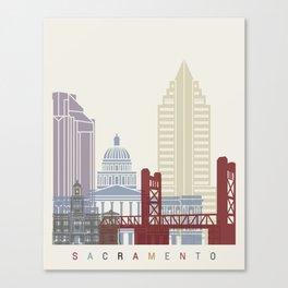 Sacramento skyline poster Canvas Print