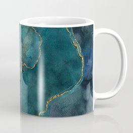 Golden Gemstone Glamour Mineral Coffee Mug