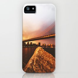 view of the manhattan skyline iPhone Case