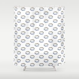 Polygon Shapes with Golden Shade Shower Curtain