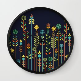 Overgrown flowers Wall Clock