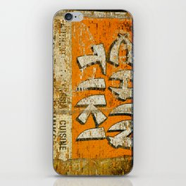 Chin Tiki Wall  iPhone Skin