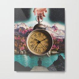 Watching the Clock Metal Print