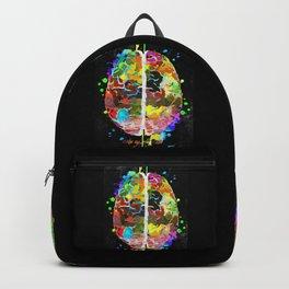 Human Brain Black Backpack