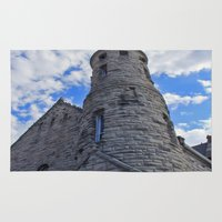 castle in the sky Area & Throw Rugs featuring Castle In The Sky by Katagram