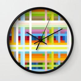 Colorful Retro Lifestyle Grid Musimon Wall Clock