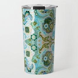 Flower Mosaic - by Fanitsa Petrou Travel Mug