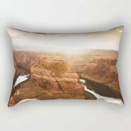 horse shoe bend canyon Rectangular Pillow