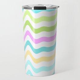 Pastel Waves Travel Mug