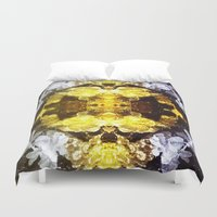 renaissance Duvet Covers featuring GOLD RENAISSANCE by Chrisb Marquez