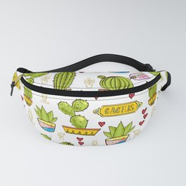 Succulents and Cacti Pattern Fanny Pack