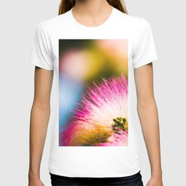 Exotic summer pink silk tree mimosa T-shirt