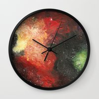 cosmic Wall Clocks featuring Cosmic by Bleriot