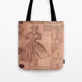 Vintage sewing pattern, 1950s  Tote Bag