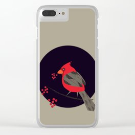 Cardinal Song Clear iPhone Case