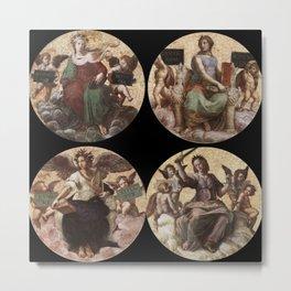 """Raffaello Sanzio da Urbino """"Ceiling of the Stanza della Segnatura"""", 1508-1511 Metal Print"""