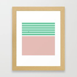 Green Stripes Nude #summer #minimal #art #design #kirovair #buyart #decor #home Framed Art Print