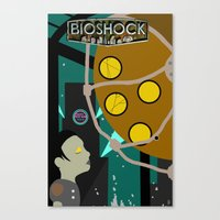 bioshock Canvas Prints featuring Bioshock by Chandler Payne