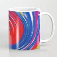 circle Mugs featuring circle by Karl-Heinz Lüpke
