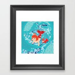 Baby Girl Mermaid Framed Art Print