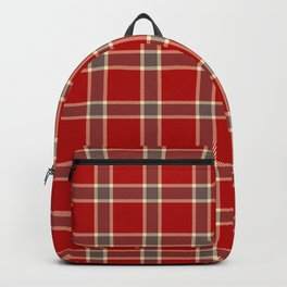 Red Tartan Backpack