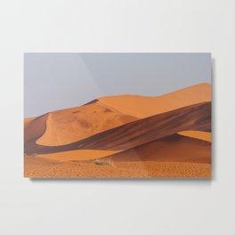 Colourful dunes at sunset, Sossusvlei, Landscape | Namibia travel photography, Art Print Metal Print