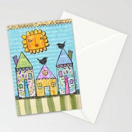 Pretty Little Houses Stationery Cards