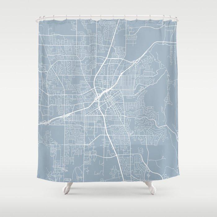 Huntsville Map, USA - Slate Shower Curtain