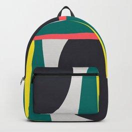 Modern Geometric 65 Green Backpack