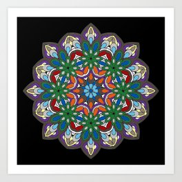 Mandala colorida Art Print