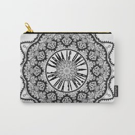 Karma is Only a B**ch if You Are - Be Nice, D***it - Mandala in Black & White Carry-All Pouch