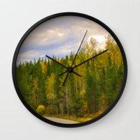ashton irwin Wall Clocks featuring Ashton Idaho - The Road Less Traveled by IMAGETAKERS
