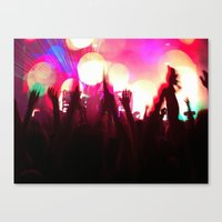 rave Canvas Prints featuring rave by xp4nder