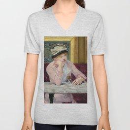 "Édouard Manet ""Plum Brandy"", also known as ""The Plum"" Unisex V-Neck"