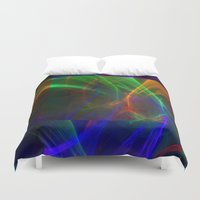 lightning Duvet Covers featuring lightning by donphil