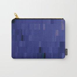 Blurple Blue Purple Digi Fractal Carry-All Pouch
