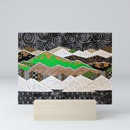 Rocky Mountains Wild (Green) - Landscape Mini Art Print