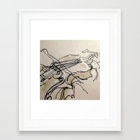 violin Framed Art Prints featuring VIOLIN by cegraph