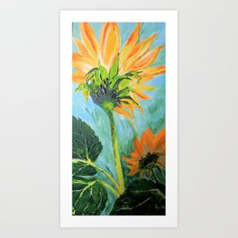 Sunflower painted Art Print