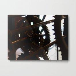 Grandes roues, petites dents. Metal Print