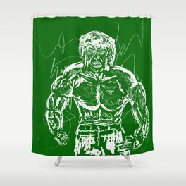 Don't make me angry!! Shower Curtain